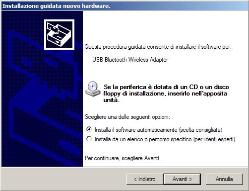 Installa automaticamente
