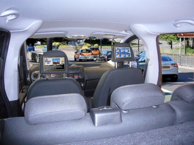 Taxi Advertising with digital signage
